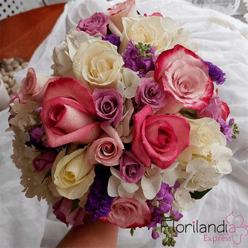 Imagen de Bouquet de novia - Flores para boda - Eventos Florilandia Express Floristería Bogotá