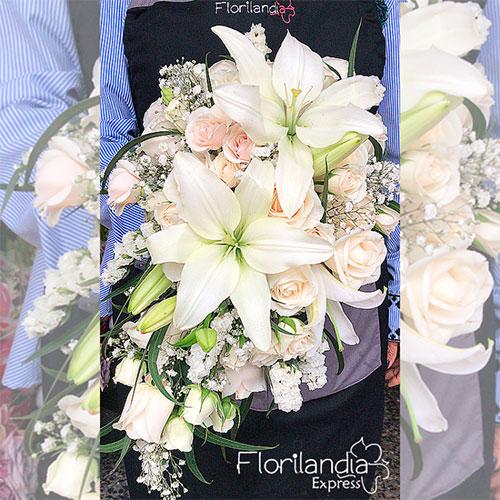 Imagen de Bouquet para novia con lirios - Eventos Florilandia Express floristería Bogotá