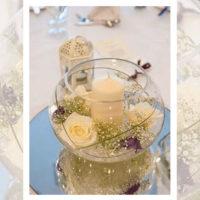 Imagen de Centros de mesa con flores beigth floristería florilandia express