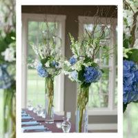 Imagen de Centros de mesa con flores blue floristería Florilandia Express