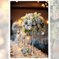 Imagen de Centros de mesa con flores brillante Floristería Florilandia Express