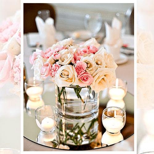 Imagen de Centros de mesa con flores candel Floristería - Florilandia Express