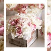 Imagen de Centros de mesa con flores matrimonio floristería florilandia express