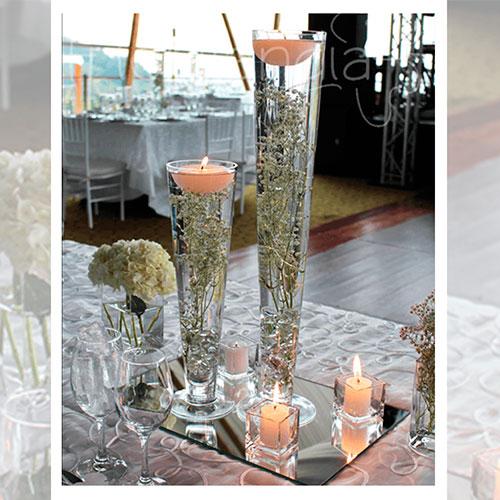 Imagen de Centros de mesa con flores orange floristería florilandia express