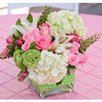 Imagen de Centros de mesa con flores pink floristería florilandia express