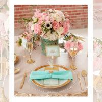 Imagen de Centros de mesa con flores salmon floristería florilandia express