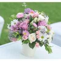 Imagen de Centros de mesa con flores violentas floristería florilandia express