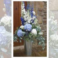 Imagen de Centros de mesa con flores White floristería florilandia express