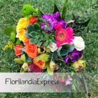 Imagen de Ramo de boda bouquet para novia Eventos Florilandia Express floristería Bogotá