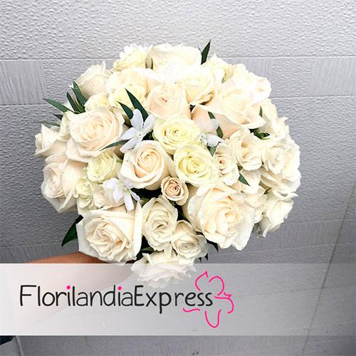imagen de Ramo de rosas para novia bouquets de boda - flores para matrimonio eventos Florilandia Express Bogotá