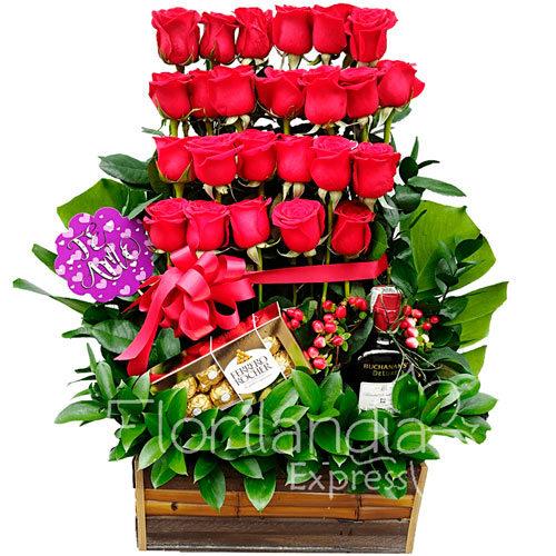 Imagen de Arreglo Floral de rosas Groenlandia a domicilio - Floristería Florilandia Express