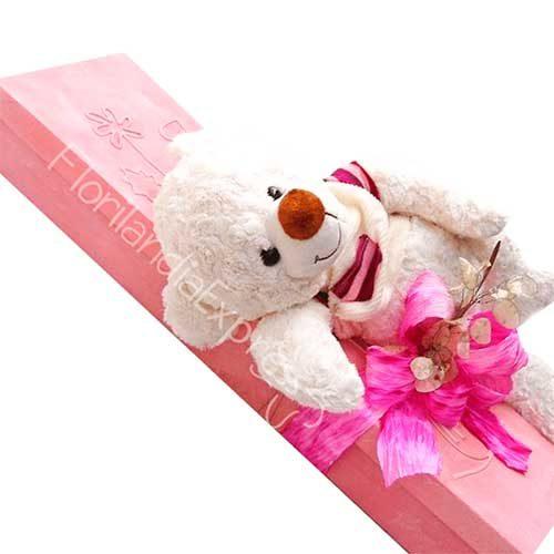 Imagen arreglo florales con amor - Caja de Rosas a domicilio Te quiero - Floristería Florilandia Express