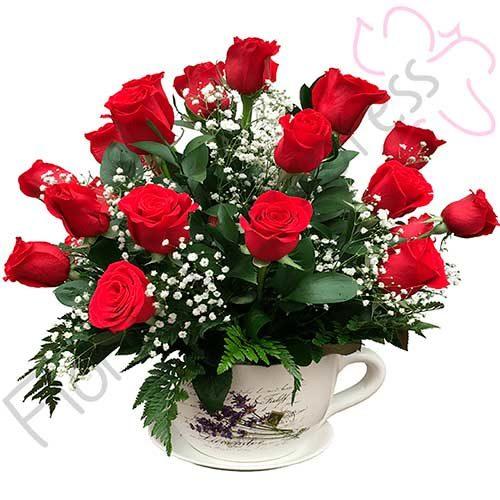 Imagen Arreglo de rosas con amor domicilio floristería Florilandia Express
