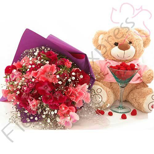 Imagen arreglo florales con amor a domicilio - Arreglo de Godesias lund - floristería Florilandia Express