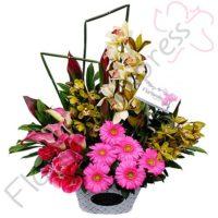 Imagen arreglos florales con amor libano - Jardinera de Orquídeas Pasión - Floristería Florilandia Express