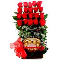 Imagen Arreglo Floral Austria con amor rosas Floristería Florilandia Express