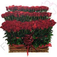 Imagen arreglo florales con amorosas vaticano - Ramo de 100 Rosas tipo exportación - floristería Florilandia Express