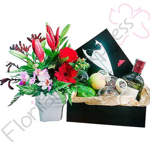 Imagen de Arreglo floral Boss - Arreglos florales para hombres a domicilio en Bogotá - Floristería Florilandia express