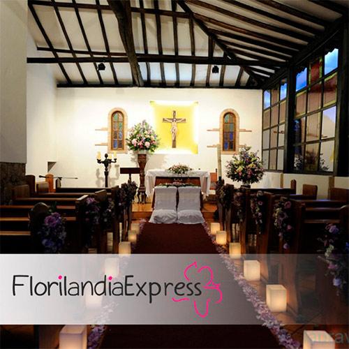 Imagen de Arreglos florales para iglesias - Decoración de eventos Floristería Florilandia Express Bogotá