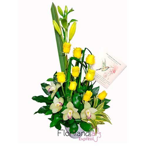 Imagen bonos de condolencias bogota arreglo floral florilandia floristeria