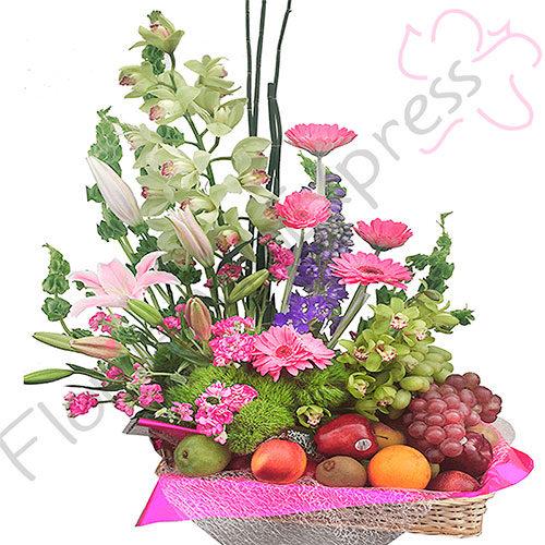 Imagen de Canasta de frutas y flores Armenia Floristería Florilandia Express