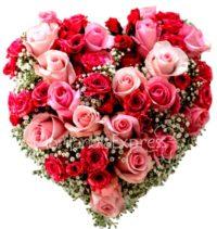 Imagen de Corazón de rosas eres mi amor - flores a domicilio colombia - floristería Florilandia Express Bogotá