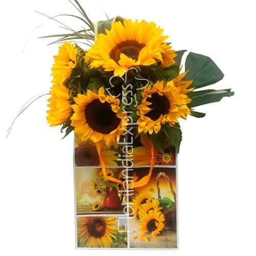 Imagen Bouquet de Girasoles Lima minsk florilandia express