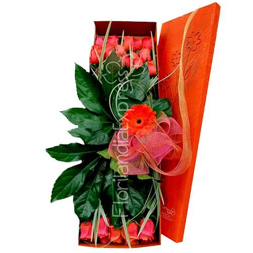 Imagen cumpleaños ramos flores a domicilio Caja de Rosas Paris florilandia express