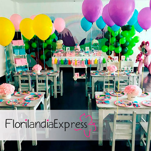 Decoracion con globos - Eventos floristería Florilandia Express Bogotá