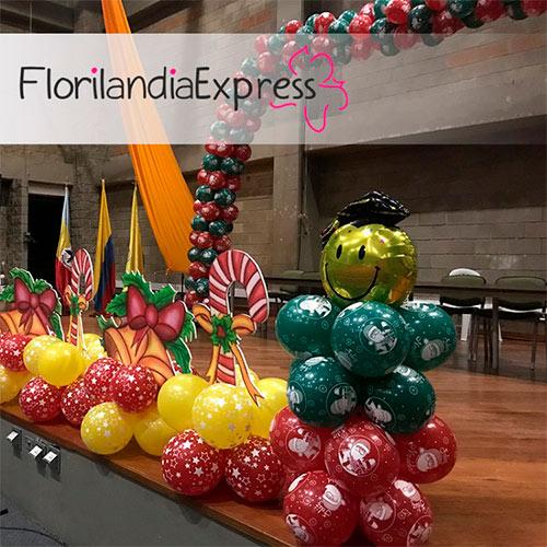 Imagen de Decoración de globos floristería Florilandia Express eventos Bogotá