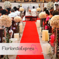 Imagen Decoración de iglesias - Arreglos florales para bodas Eventos Florilandia Express