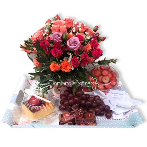 Imagen de Desayuno a domicilio flores campestres - Floristería Bogotá florilandia Express
