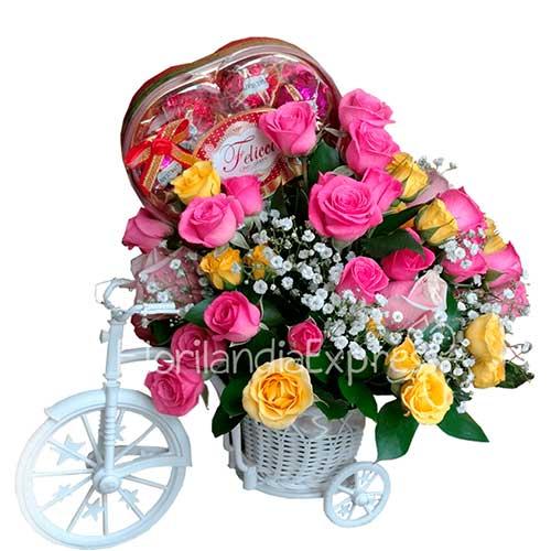 Imagen Bicicleta de Flores Vintage a domicilio florilandia express