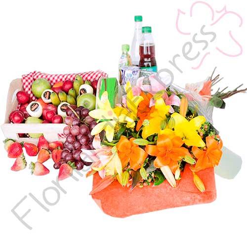 Imagen de Canasta de Frutas del campo a domicilio en Bogotá para ti - Floristería Florilandia Express