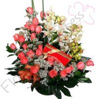 Imagen desayunos a domicilio bogota polonia florilandia express - Arreglo de Orquídeas y Rosas Polonia