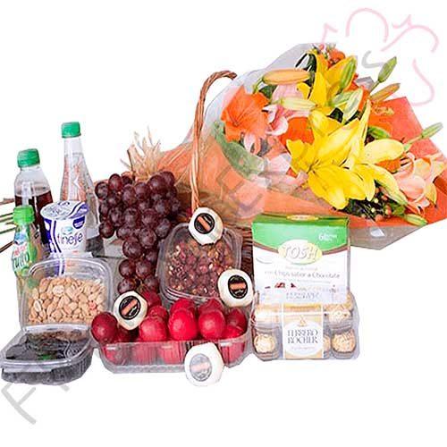 Imagen de Frutas y Flores Eres mi Sol - Desayunos sorpresa a domicilio Bogotá - Floristería Florilandia Express
