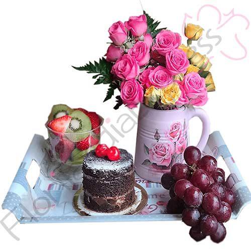 Imagen de Merienda a domicilio eres mi amor a domicilio en floristería Bogotá Florilandia Express