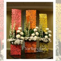 Imagen de eventos empresariales decoración naranjos Florilandia Express