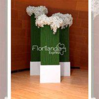 Imagen de eventos empresariales decoración green Florilandia Express