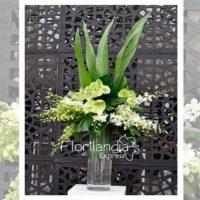 Imagen de eventos empresariales decoración hojas Florilandia Express