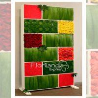 Imagen de eventos empresariales decoración pared de flores Florilandia Express