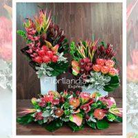Imagen de eventos empresariales decoración pin de flores Florilandia Express