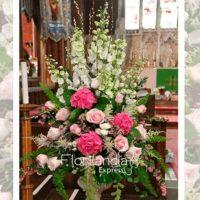Imagen de eventos empresariales decoración pink de flores Florilandia Express