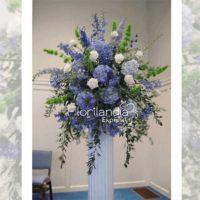 Imagen de eventos empresariales decoración purple de flores Florilandia Express