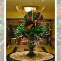 Imagen de eventos empresariales decoración red de flores Florilandia Express