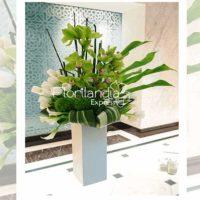 Imagen de eventos empresariales decoración sol de flores Florilandia Express