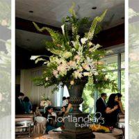 Imagen de eventos empresariales decoración tall de flores Florilandia Express