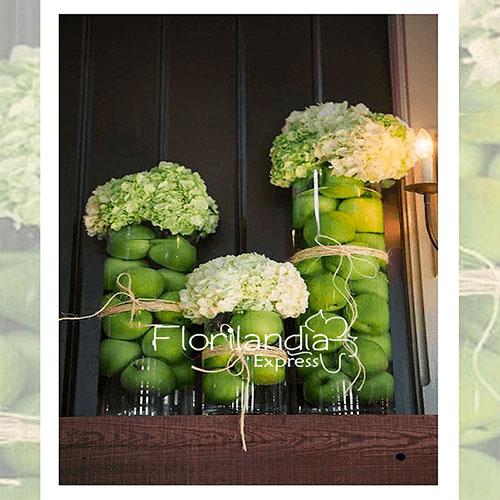 Imagen de eventos empresariales decoración three de flores Florilandia Express