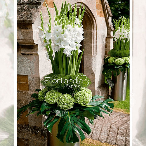 Imagen de eventos empresariales decoración white de flores Florilandia Express