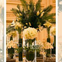 Imagen de eventos empresariales decoración yellow de flores Florilandia Express